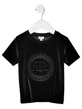 river-island-mini-mini-boys-ri-velour-t-shirt-black