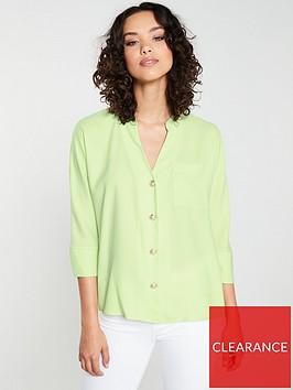 river-island-button-detail-blouse-lime