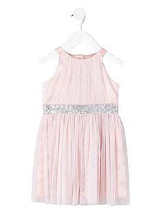 river-island-mini-mini-girls-mesh-sequin-occasion-dress-pink