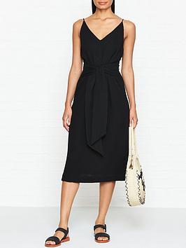 seafolly-tie-front-cotton-slip-dress-black