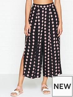 seafolly-inka-gypsy-diamond-print-split-trousers-black