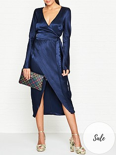 bec-bridge-sylvie-wrap-satin-midi-dress-navy