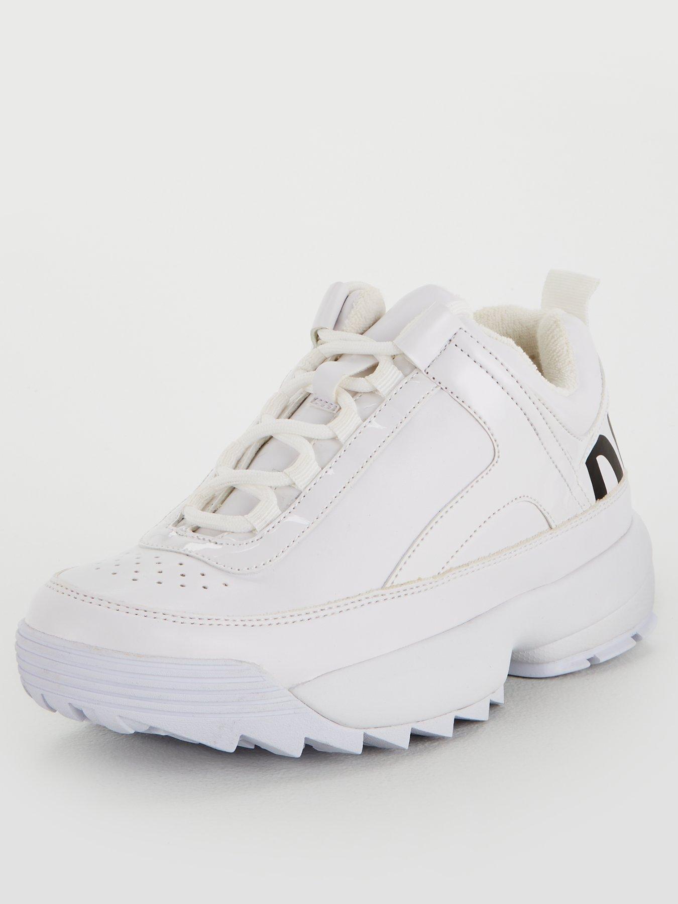 DKNY Dani Lace Up Sneaker - White