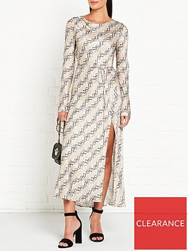 bec-bridge-high-neck-long-sleeve-satin-midi-dress-snake