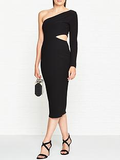 bec-bridge-elke-one-shoulder-cut-out-midi-dress-black