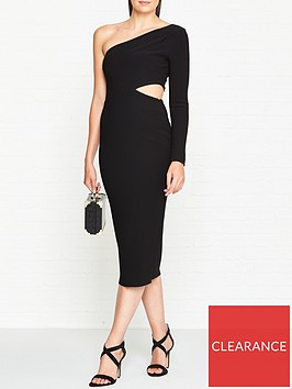 bec-bridge-elke-one-shoulder-cut-out-midi-dress-black