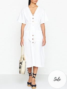 seafolly-button-front-dress-white
