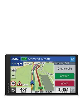 Garmin Drivesmart 55 Mt-S 5.5 Inch Sat Nav With Edge To Edge Display, Map Updates For Uk And Ireland, Live Traffic, Bluetooth Hands-Free Calling And Driver Alerts