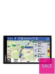 garmin-drivesmart-65-mt-s-695-inch-sat-nav-with-edge-to-edge-display-map-updates-for-uk-ireland-and-full-europe-live-traffic-bluetooth-hands-free-calling-voice-commands-and-smart-features