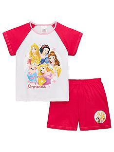 b7909a699 Disney Princess Girls Slogan Shorty Pyjamas - White/Pink