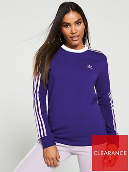 adidas-originals-3-stripe-long-sleeve-tee-purplenbsp