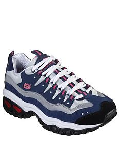 skechers-energy-wave-linxe-trainers-navyhot-pink