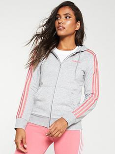 adidas-essential-3-stripe-full-zip-hoodie-grey-heathernbsp