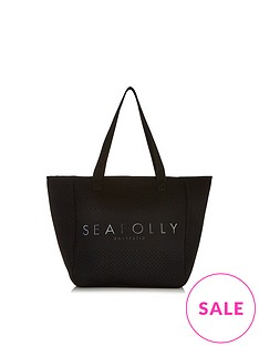 seafolly-perforated-neoprene-tote-bag-black
