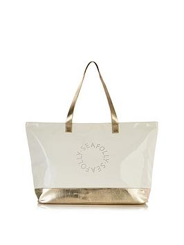 seafolly-perforated-metallic-logo-tote-bag-goldcream