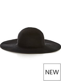 seafolly-lizzy-packable-hat-black