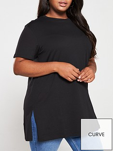 v-by-very-curve-valuenbspsplitnbsphem-tunic-t-shirt-black