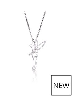 disney-disney-peter-pan-14kt-white-gold-tinkerbell-outline-character-necklace