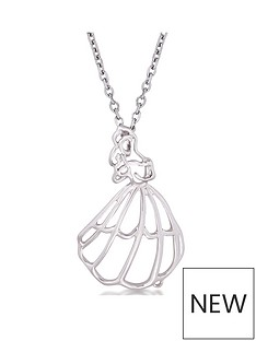 disney-disney-beauty-and-the-beast-14kt-white-gold-belle-outline-character-necklace