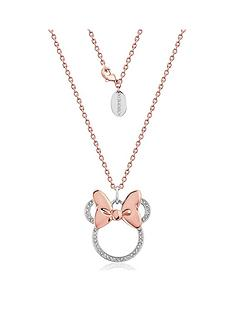 disney-disney-minnie-mouse-14kt-rose-gold-plated-crystal-longline-necklace