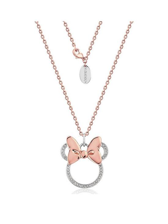 97fe065e4 Disney Disney Minnie Mouse 14kt Rose Gold Plated Crystal Longline Necklace
