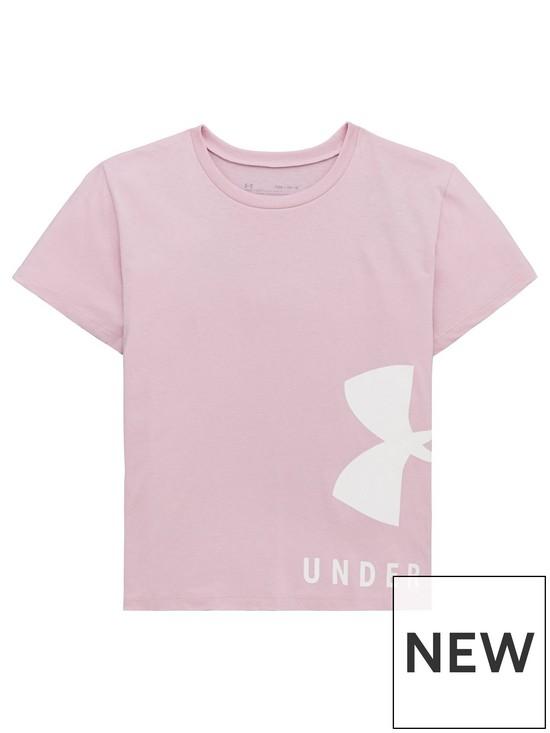 6d559f1e1f Girls Sportstyle Short Sleeve T-Shirt - Pink/White