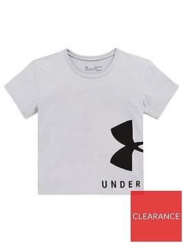 under-armour-girls-sportstyle-tee-grey