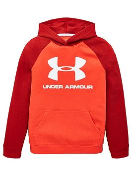 under-armour-rival-logo-hoodie-red