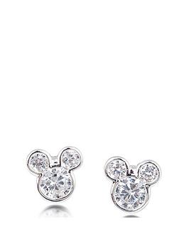 disney-disney-mickey-mouse-14k-gold-plated-crystal-stud-earrings