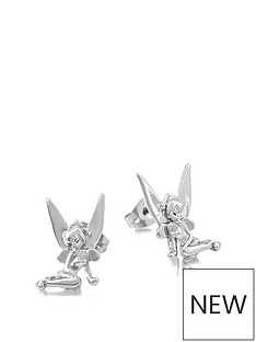 disney-disney-tinkerbell-14kt-white-gold-plated-stud-earrings
