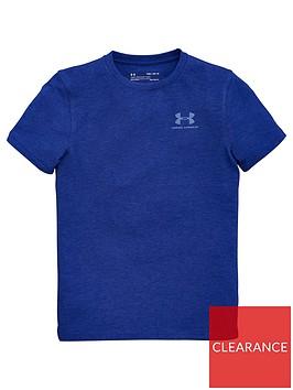 under-armour-eu-cotton-short-sleeve-t-shirt-blue