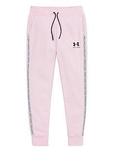 under-armour-girls-sportstyle-fleece-pants-pink