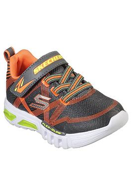 skechers-flex-glow-trainers-charcoal