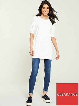 v-by-very-34-sleeve-pocket-tunic-ivory