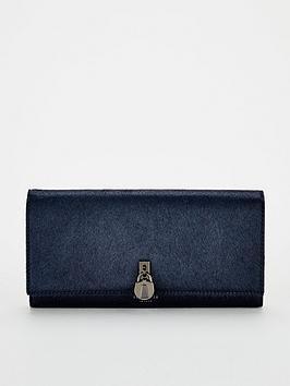 ted-baker-sylivi-padlock-flap-matinee-purse-dark-blue