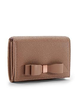 ted-baker-leonyy-bow-flap-leather-mini-purse-taupe