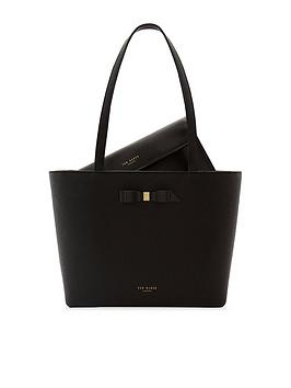 ted-baker-jjesica-bow-detail-suede-trim-leather-shopper-tote-bag-bag