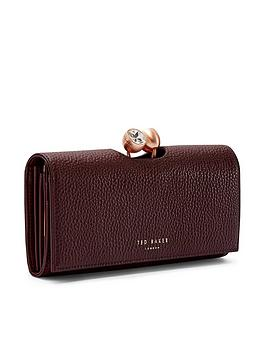 ted-baker-solange-pave-bobble-leather-matinee-purse-maroon