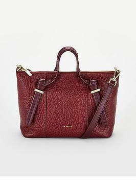ted-baker-olmia-knotted-handle-small-leather-tote-bag-oxblood