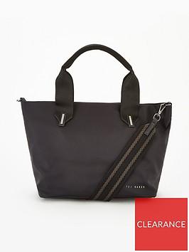 ted-baker-macieyy-plain-small-nylon-tote-bag-black