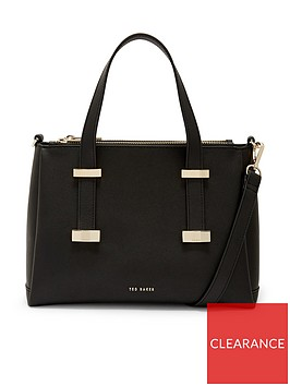 ted-baker-julieet-leather-adjustable-handle-small-tote-bag-black