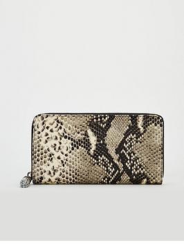 ted-baker-sheea-tassel-zip-around-leather-matinee-purse-snake-print