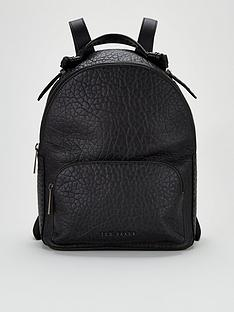 ted-baker-orilyy-knotted-handle-leather-backpack-black