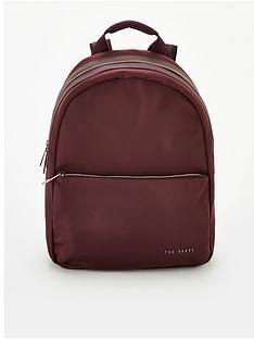 ted-baker-martah-plain-nylon-backpack-oxblood