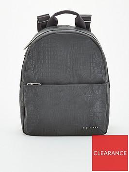 ted-baker-dorothi-nylon-reflective-croc-backpack-black