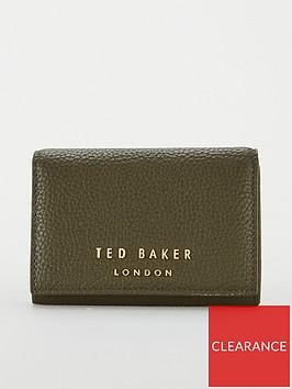 ted-baker-odelle-statement-letters-mini-purse-khaki