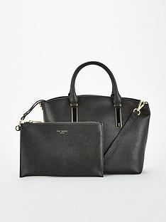 ted-baker-shanah-curved-small-leather-shopper-black