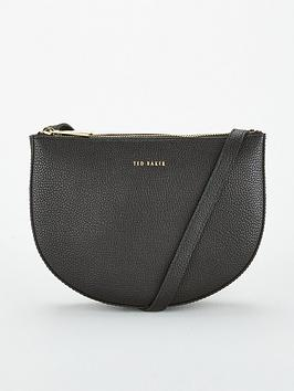 ted-baker-stelaah-curved-leather-cross-body-bag-black