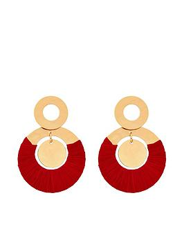 accessorize-hammered-block-colour-earrings-red