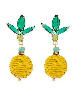 accessorize-ciao-bella-lemon-earrings-yellow